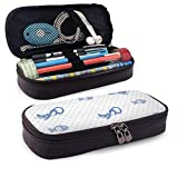 Lawenp Multifunktionspaket Cat and Fish Leather 3D Nanotechnology Printed Pencil Case Pouch Zippered...