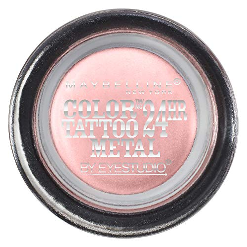 MAYBELLINE - EyeStudio Color Tattoo Metal 24hr Cream Gel Shadow 55 Inked In Pink - 0.14 oz. (4 g)