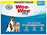 Four Paws Wee-Wee Pads for Dogs, 22x23 Inch, 200 Count, 2 Pack