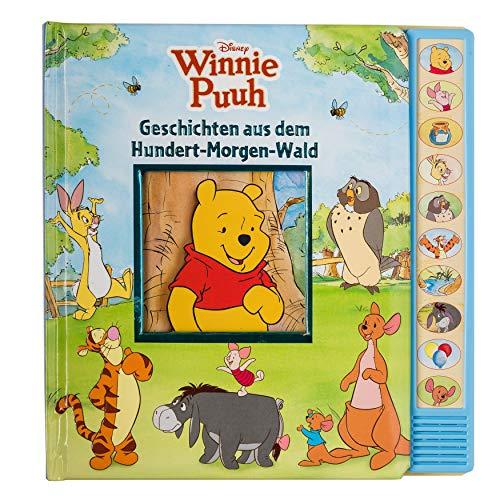 Disney Winnie Puuh - Geschichten aus dem Hundert-Morgen-Wald - Vorlese-Pappbilderbuch mit 10 Geräuschen - Soundbuch: Vorlese-Pappbilderbuch mit 10 Melodien - Kinderlieder