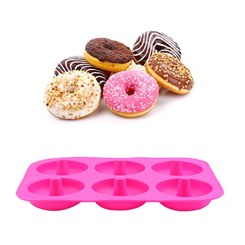 Greatstar Donut Pan,2-Pack High temperature resistance Silicone Doughnuts Baking Pan,Non-Stick Mold,Bake Full Size Perfect Shaped Doughnuts