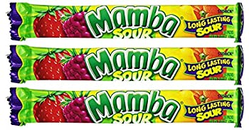 German Mamba Chewy Candy Sour Fruit Chews 2.80oz From Germany Pack of 3