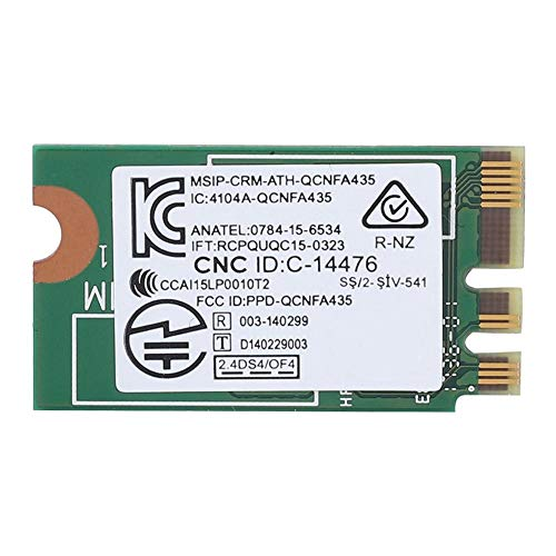 Mugast-Netzwerkkarte, Drahtlose Hochgeschwindigkeitsnetzwerkkarte Dual Band 2,4 G / 5 G / M2 Geeignet für ASUS/Acer/BenQ/Toshiba/Dell/Samsung/Haier/Tongfang Unterstützung Win 7 / Win 8 /