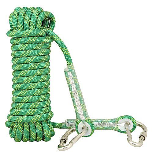 rock climbing ropes Syiswei Rock Climbing Rope 12MM, (10m,32ft)(20m,65ft) (30m,98ft) Static Outdoor Climbing Rope, Safety Rope Tree Swing Climbing Rope