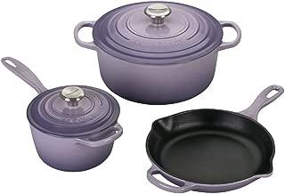 Le Creuset MS1605-BPSS Signature 5-Piece Cast Iron Cookware Set, Provence