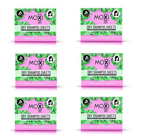 Moxi Loves DRY SHAMPOO SHEET Oil Infused Rice Powder Sheets 6 pack