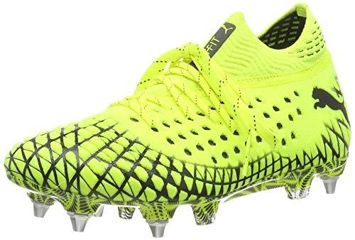 Puma Unisex-Erwachsene FUTURE 4.1 NETFIT MxSG Fußballschuhe, Yellow Alert Black, 45 EU