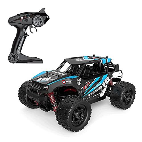 KGUANG Adultos y niños Racing RC Car 4WD 36 km/h 1:18 Escala de Alta Velocidad 2.4G Control Remoto Buggy Todo Terreno Escalada Bigfoot Vehículo de Juguete Niño Cumpleaños Camión