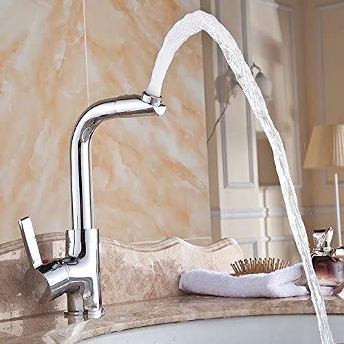 YISU Grifo del Lavabo del baño grifos del Lavabo Grifo Mezclador del baño Grifo de latón de Lujo montado en la Cubierta CODE-7048