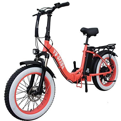 Vtuvia 20 Inch Fat Tire Folding Electric Bike