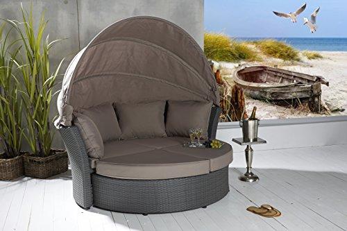 Wholesaler GmbH LC Garden Sonneninsel Strandkorb Miami grau - 4