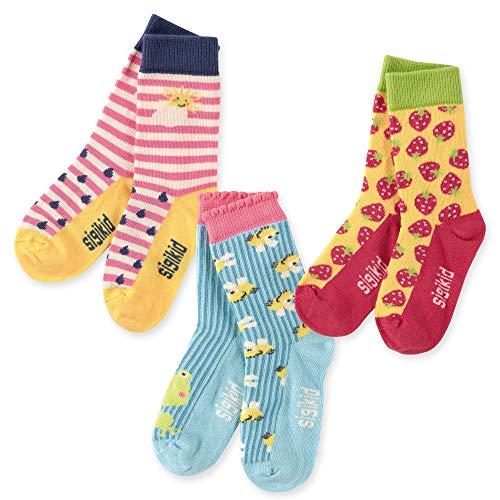 SIGIKID Baby Mini - Mächen und Jungen Sockenset mit kindlichen Mustern/Motiven, 3er-Pack, Mehrfarbig, Größe 22-24