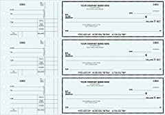 Side tear checks are perforated for easy check detachment, leaving a permanent transaction record. Free personalization includes your business imprint plus choice of standard check color, typeface & standard business logo. Binder checks feature a cla...
