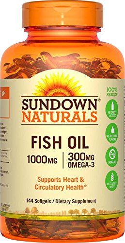 Sundown Fish Oil 24 Bonus Soft Gels 1000 mg 144 Count