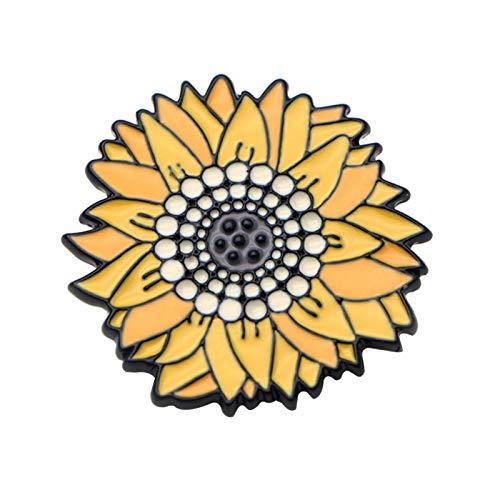 Anstecknadeln für Rucksäcke, modische Unisex-Brosche mit Sonnenblumen-Motiv, Emaille, für Rucksack, Tasche, Jeans, Dekoration