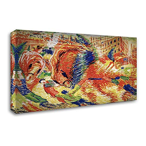 Boccioni, Umberto 24x14 Gallery Wrapped Stretched Canvas Art Titled: The City Rises