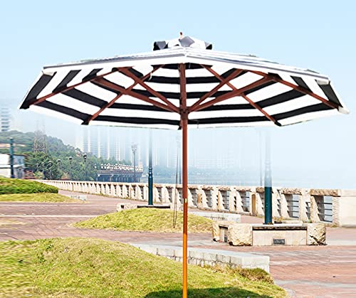 YIZHIYA Sombrilla de Jardín, Sombrilla para sombrilla de Madera de Ocho Hilos al Aire Libre, Protector Solar y sombrilla de Mesa Impermeable al Aire Libre, para Patio al Aire Libre Playa y Piscina