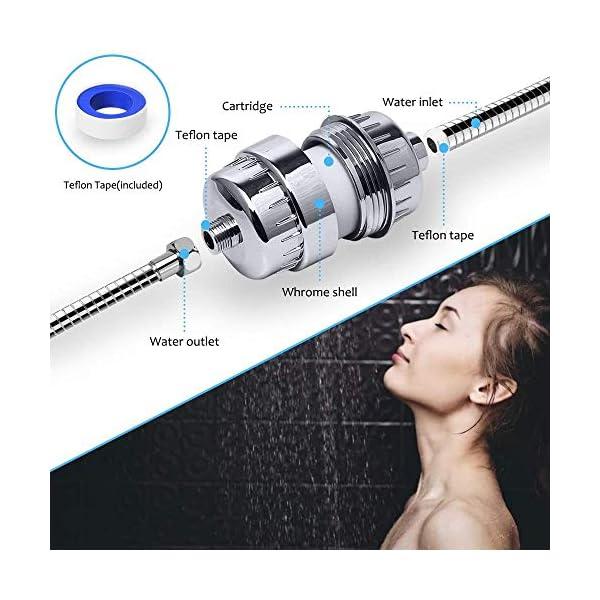 Filtro de Ducha, Cadrim 15 Etapas Universal Filtro Purificador de Agua Ducha, con Cartucho de Filtro Reemplazable, para…