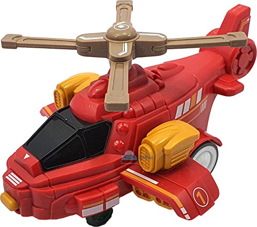 FunBlast Plastic 2 In1 Helicopter Toy To Robot Toy, Pack Of 1, Multicolour