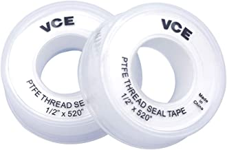 VCE 2 Pack PTFE Industriële Sealant Tape Witte Draad Seal Tape, 12mm x 13m