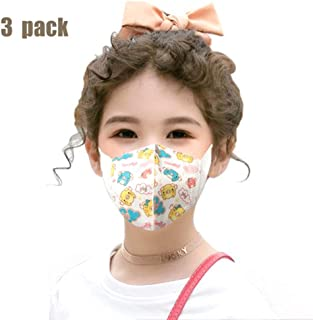 Spring and Summer Baby M asks for Boys and Girls Breathable Dust-proof 0-3 years old 4-8 years oldFilter Air Breathable Children 3 Pieces Random Color Patterns (Color : Girl, Size : 4-8 years old)