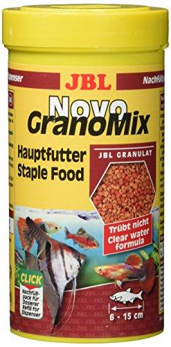 JBL NovoGranoMix 30102, Alleinfutter für große Aquarienfische Nachfülldose Granulat, 250 ml