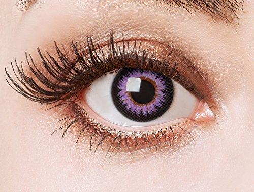 aricona Kontaktlinsen Farblinsen - Big Eyes Circle Lenses – bunte, farbige Manga Kontaktlinsen ohne Stärke – rosa Anime Augenlinse, 12 Monatslinsen für Cosplay