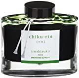 PILOT Iroshizuku Bottled Fountain Pen Ink, Chiku-rin, Bamboo Forest (Light Green) 50ml Bottle (69222)