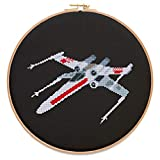 X-Wing Cross Stitch Kit, 14 Count White Aida, 8.6' x 3.9', 9 Colors