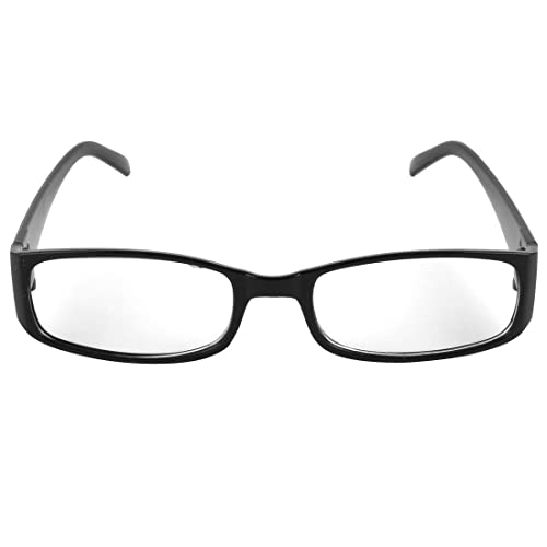 84d1c4bd4c Unisex Black Plastic Full Rim Frame Clear Lens Glasses