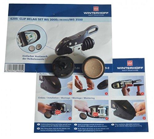 FKAnhängerteile Reibbelag-Satz Winterhoff WS 3000 ab Bj. 08.2002 + WS3500 Antischlingerkupplung