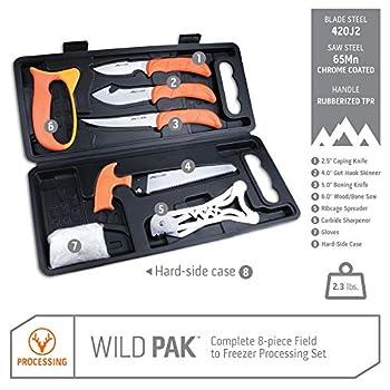 Outdoor Edge - Wild-Pak - WP-2 - Malette de boucher de qualité professionnelle - Orange