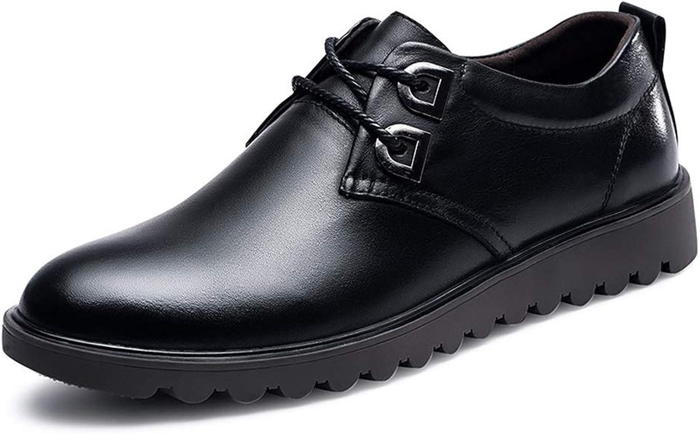 Easy Go Shopping Oxford Für Mnner Casual Müiggnger Mit Metalldekoration Komfortable Lace Up Flats Schuhe Leder Quadratische Kappe Abriebfest,Grille Schuhe