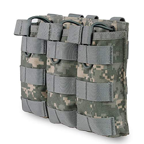 Kayheng Airsoft Chaleco Táctico Molle Vest Bag Bolsa Tactical Open Top mag Pouch Triple/Doble/Single revistero para Ar M4 M16 Hk416 revistas