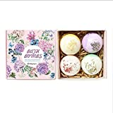 HOLACZES Bath Bomb Gift Set, 4 Bombe da Bagno Schiuma Natural Spa Aroma Vegetariani, Il Miglior Regalo per Tutte Le Donne con Diversi Aromi (Multicolore)