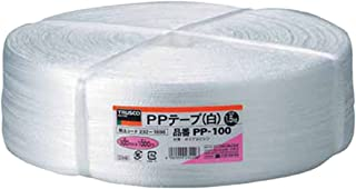 TRUSCO(トラスコ) PPテープ 100mm×1000m 白 PP-100