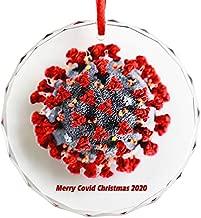 Christmas 2020 Gag Gift Lasercut Glass Cut Keepsake Ornament Double Sided Design 3in x 3in x 1/4in Yankee Swap White Elephant Dirty Santa