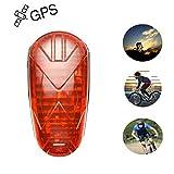 Hanguang - Rastreador GPS GPS GPS con modo de bicicleta oculto, batería larga en tiempo real, 25 días, GPS, GSM, GPRS, dispositivos de seguimiento con luz LED