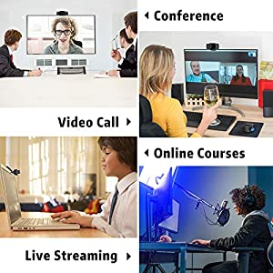 1080P HD Webcam with Microphone, Septekon Streaming Computer Web Camera for Laptop/Desktop/Mac/TV, USB PC Cam for Video…