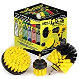 Drill Brush Attachment - Bathroom Surfaces Tub, Shower, Tile and Grout All Purpose Power Scrubber Cleaning Kit –Grout...