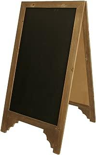 Wald Imports Brown Wood Chalkboard Display Sign