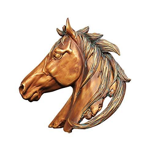 Home Decorations Animal Ornamenten Hoofd van het Paard Hars Ambachten, het openen giften, wijn kasten, meubels accessoires, Realistisch en delicate ornamenten ZHQHYQHHX