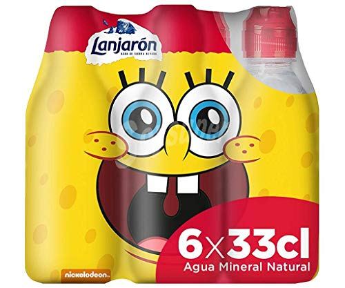 Lanjarón Agua Mineral con Tapón Infantil - Pack 6 x 33cl