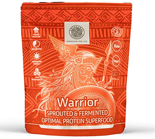 Ancestral Superfoods Warrior - Whole Foods Vegan Protein Powder - Boost Energy & Power- Alkaline, Gluten Free & Sprouted, 10/20 Servings