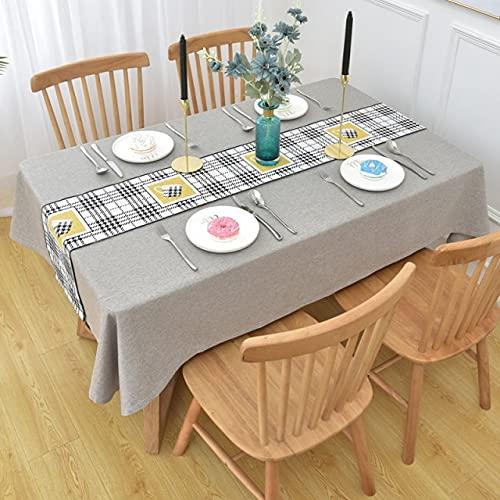 Mantel de Lino de algodón Simple de Lujo Mesa de Bandera Mantel de Restaurante de Boda Rectangular Engrosado 140x220cm Gris con Bandera