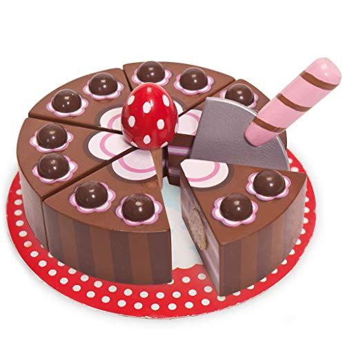 Le Toy Van - 12277 - Jeu d'imitation - Gâteau d'anniversaire - Chocolat