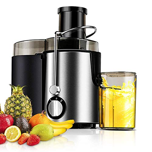 Juicer Machine Juicer Extractor Whole Fruit And Vegetables Easy Clean 400W & Powerful Dual Speed Settings, Stainless Steel Juicer Centrifugal 500Ml Jug