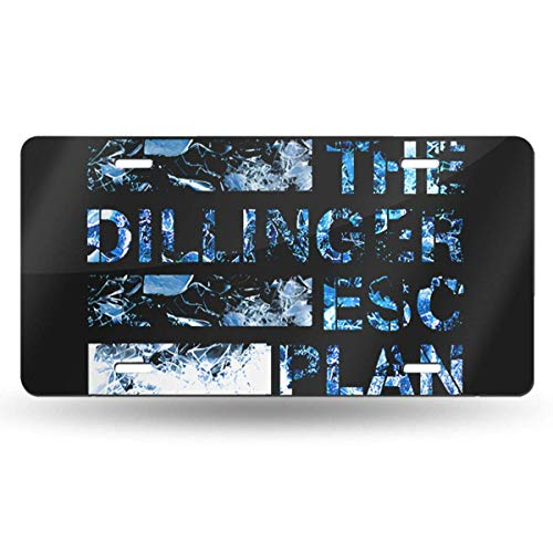 MYGED Metal Cool The Dillinger Escape Plan License Plate Car Accessories 6' X 12'