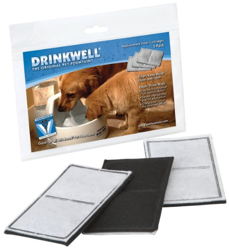 PetSafe Drinkwell Carbon Replacement Filter, Dog and Cat Water Fountain Filters, 3 Pack