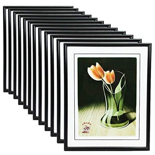 Acan Caja de 12 portafotos de PVC en Color Negro Exterior 24 x 18 cm Interior 18 x 13 cm